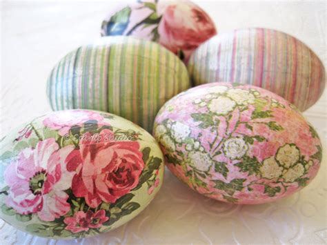 decoupage eggs easter eggs world pink decoupage mint by
