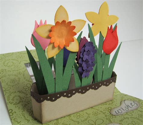 how to make pop up flower card pop up flower box card by qbee cards and paper crafts at