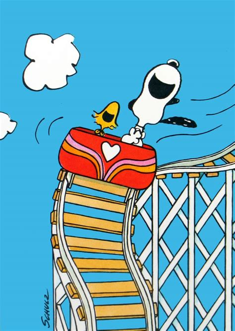 Wall Window Stickers snoopy and woodstock rollercoaster post card set