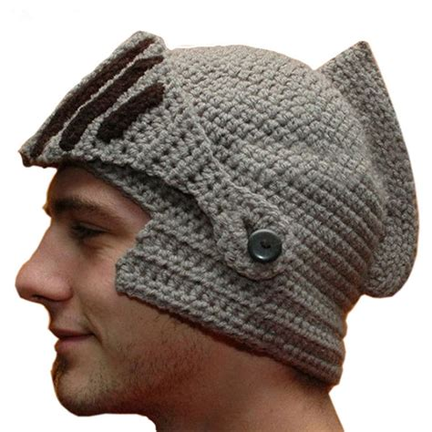 cool knit hats novelty new helmet caps cool handmade knit