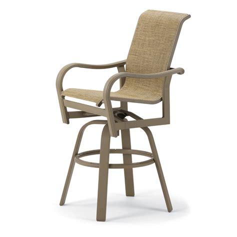 bar height patio set with swivel chairs ii sling patio counter height swivel bar arm chair