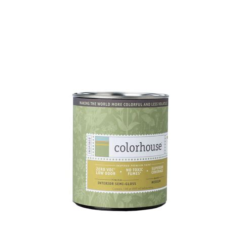 home depot semi gloss paint colors colorhouse 1 qt white base semi gloss interior paint