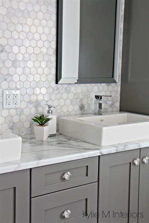 bathroom vanity marble a marble inspired ensuite bathroom budget friendly