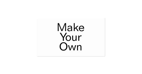 Make Your Own Business Card Zazzle
