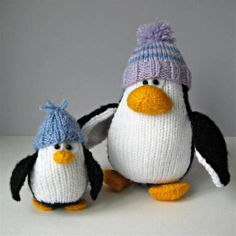 knitting pattern for penguin bobble and penguins knitting patterns on luulla