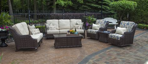 resin wicker patio furniture sets mila collection all weather wicker patio furniture