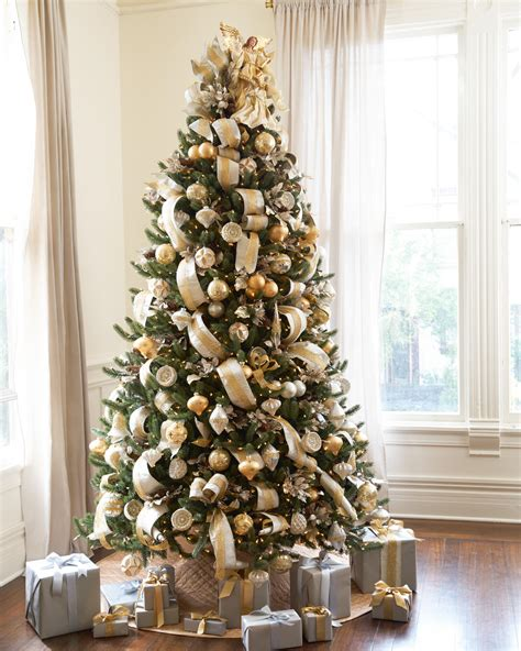 tree decoration ideas silver and gold tree tree decorating