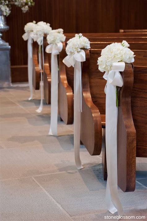 simple decor simple pew decorations weddinginclude wedding ideas