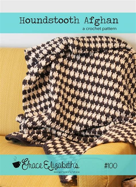 how to knit houndstooth free crochet pattern houndstooth afghan knitting