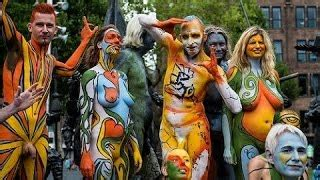 annual painting festival bodypainting day nyc 2016