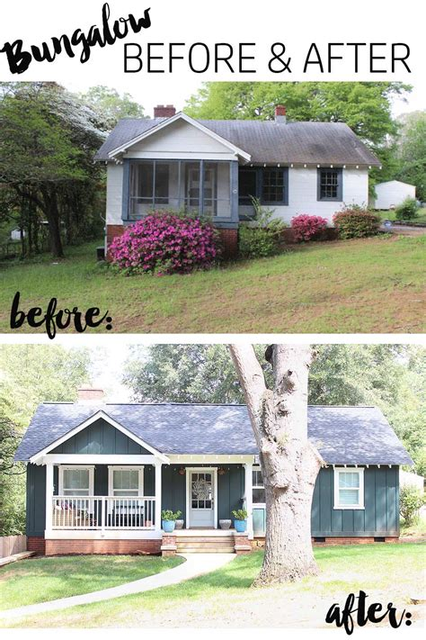 before and after small home our bungalow exterior before after