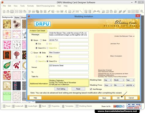 software for cards and invitations wedding card maker software screenshots how to generate
