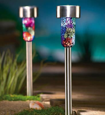solar mosaic garden lights collections etc find unique gifts at