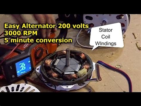 Alternator Electric Motor by Easy Alternator From Electric Motor Conversion Diy