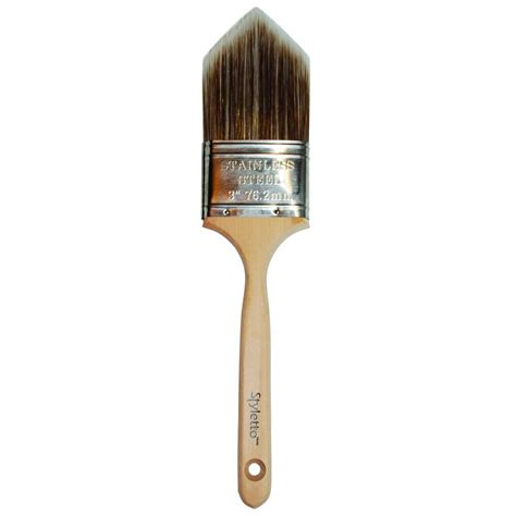 home depot paint brushes styletto 3 in trimming and edging paint brush 00232 the