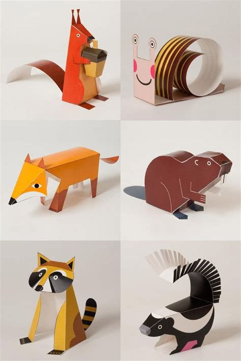 animal paper crafts 25 best ideas about paper animals on paper