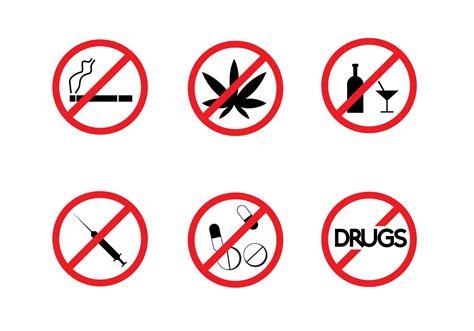 free no free no drugs signs vector free vector