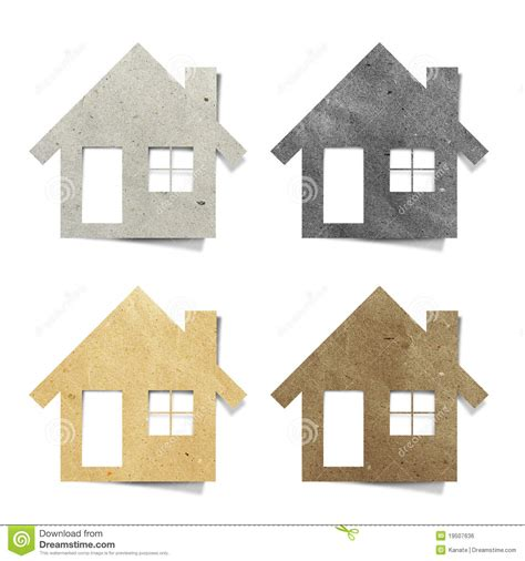 paper crafts house tag house recycled paper craft stock photo image 19507636