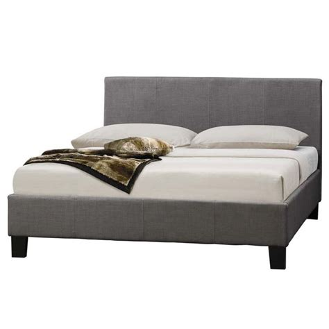 size fabric bed frames mondeo size linen fabric bed frame in grey buy