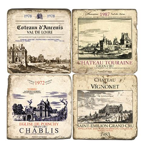 Kitchen Knives For Children french wine label marble coaster
