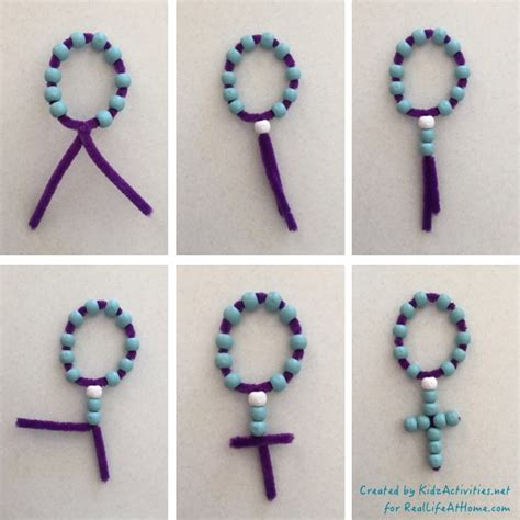 catholic crafts for easy and inexpensive rosary craft for catholic