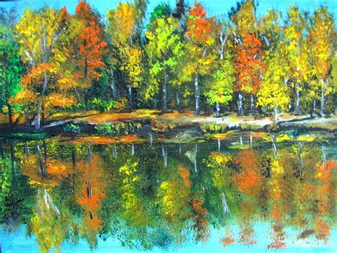 acrylic painting landscape paintings of natur abstract on canvas for