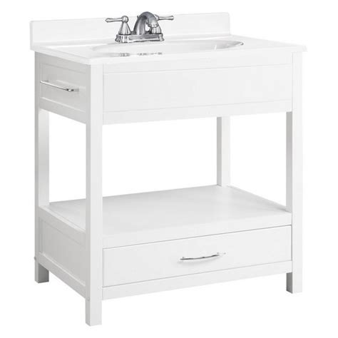 design house concord vanity design house 541532 concord white gloss console vanity 30