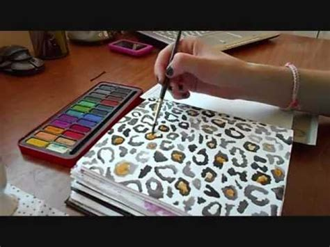 paint colors to match zebra print how to paint leopard print with watercolours