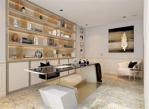 modern office decor modern deco home visualized in two styles amazing