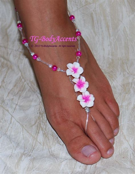 how to make foot jewelry barefoot sandals foot jewelry wedding lil luau