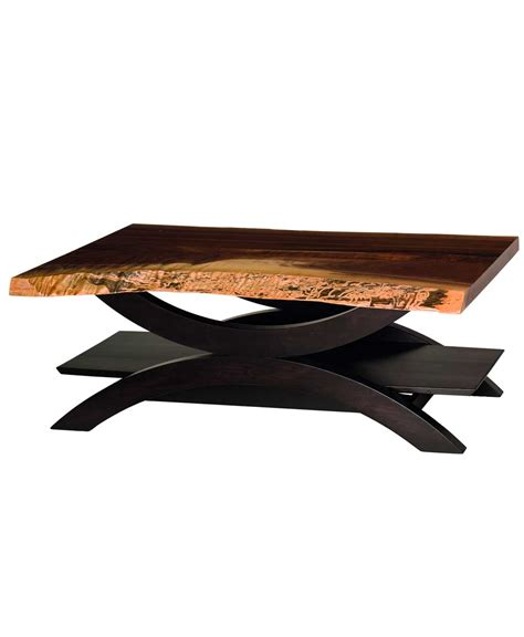 live edge coffee table live edge gateway coffee table amish direct furniture