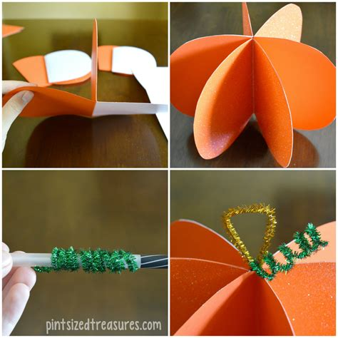 pumpkin paper crafts easy paper pumpkin craft 183 pint sized treasures