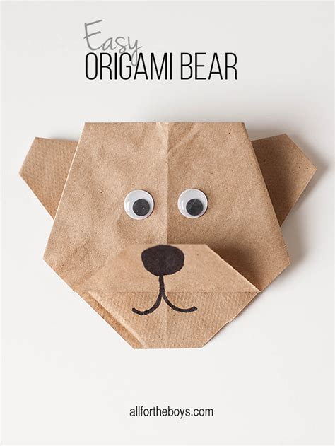 origami bears easy origami disneynature s bears printables all
