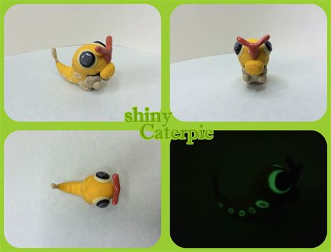 how to make polymer clay shiny shiny caterpie polymer clay request by thunderboy0312 on