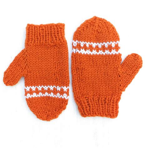 how to knit toddler mittens orange striped toddler mittens allfreeknitting