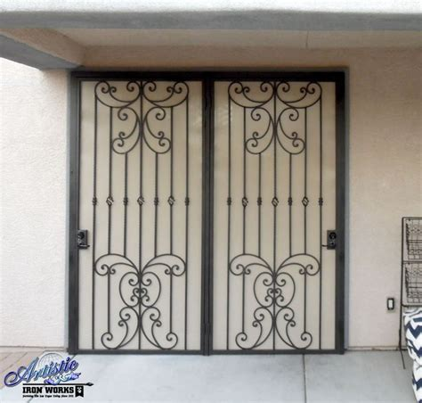 wrought iron patio doors papillion wrought iron security screen door for patio