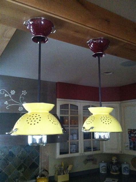 diy kitchen light fixtures 25 best ideas about colander light on diy