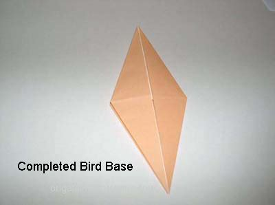 origami bird base origami a meaningful use of all your leftover paper