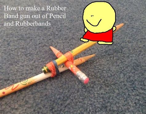 make rubber st at home how to make a rubberband gun out of pencil and rubberbands