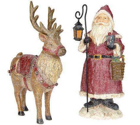 santa and reindeer figurines vintage santa and reindeer figurines by valerie