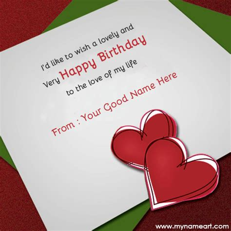 how to make cards for birthday write name on birthday wishes for lover wishes greeting card