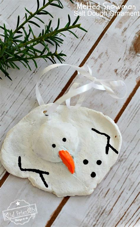 diy salt dough ornaments a diy melted snowman and salt dough ornament