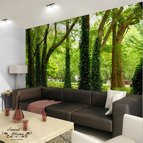 paper wall murals 3d nature tree landscape wall paper wall print decal decor