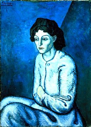 picasso paintings images blue period images