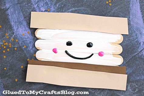 popsicle stick kid crafts popsicle stick smores kid craft glued to my crafts