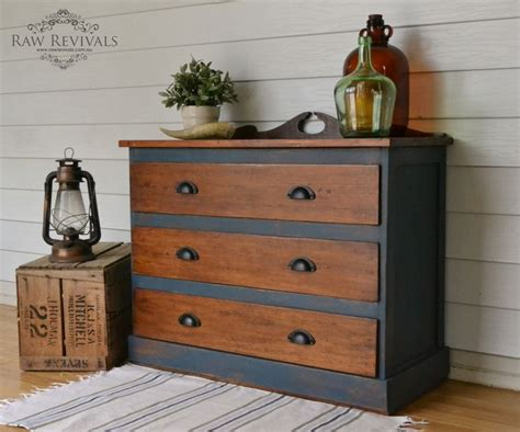 diy antique chalk paint antique restored hardwood chest of drawers painted in
