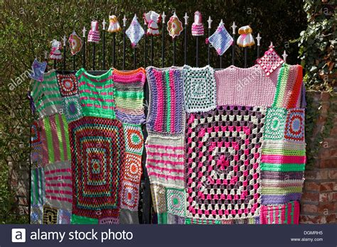guerilla knitting patterns knitted iron gate with square pattern guerrilla