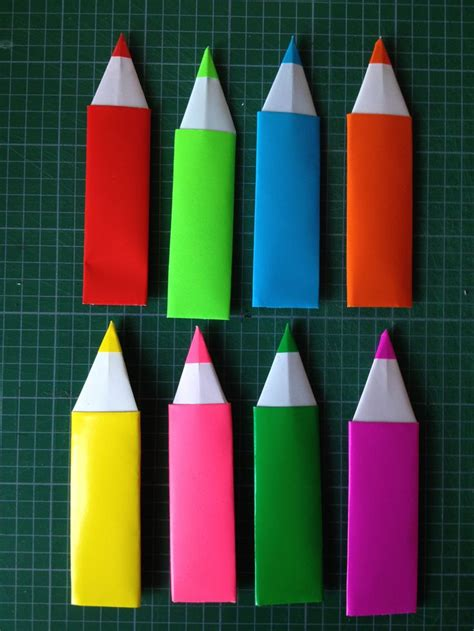 how to make a origami pencil origami pencil bookmarks made by me