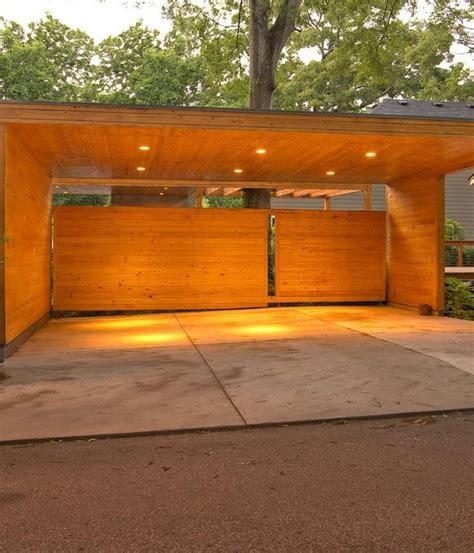 Carport Area by Impresive Design Carport Area With Wooden Design Material