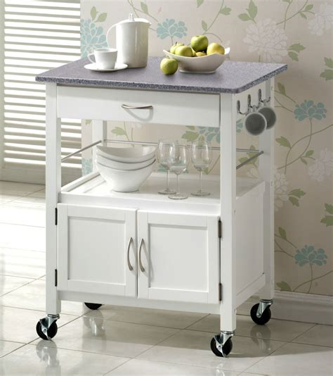 kitchen trolley island york white painted grey granite top hardwood kitchen trolley island storage ebay